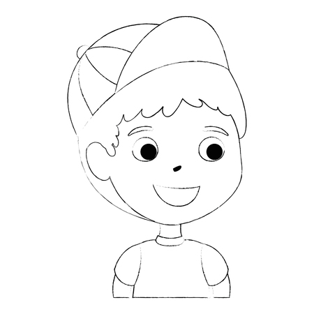 little boy son character vector illustration design