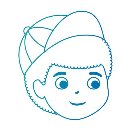 little boy son head character vector illustration design Stock Vector - 102262597