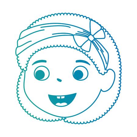 little girl daughter head character vector illustration design Stock Vector - 102262613