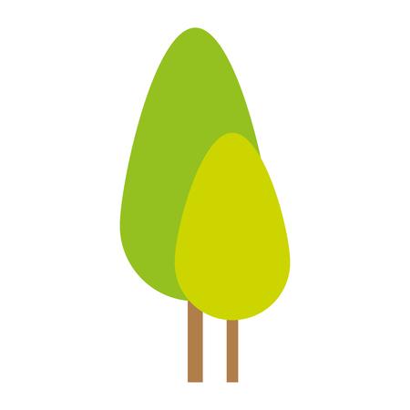 trees plants forest icon vector illustration design Stockfoto - 102264171