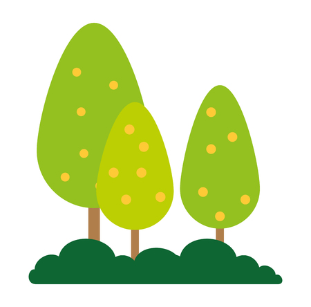 trees plants forest icon vector illustration design