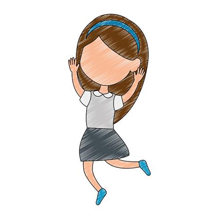 little girl daughter character vector illustration design