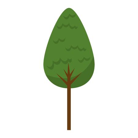 tree plant forest icon vector illustration design Stock Illustratie