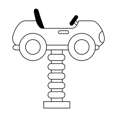 little cart toy with spring vector illustration design Foto de archivo - 102264403