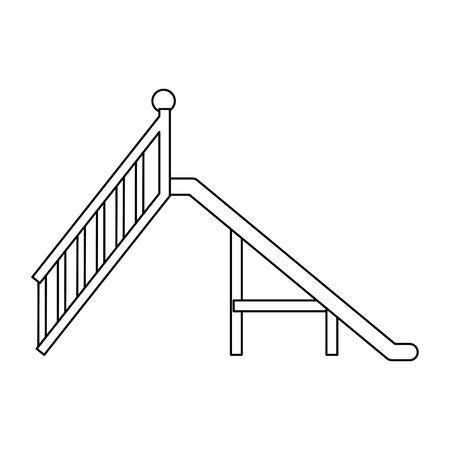 Diseño del ejemplo del vector del icono de la diapositiva del patio del juego