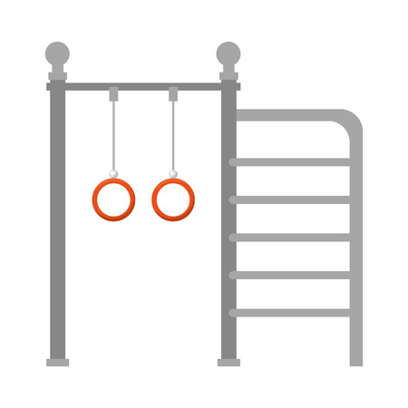 park playground rings hanging vector illustration design