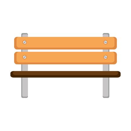 park wooden chair icon vector illustration design Illustration