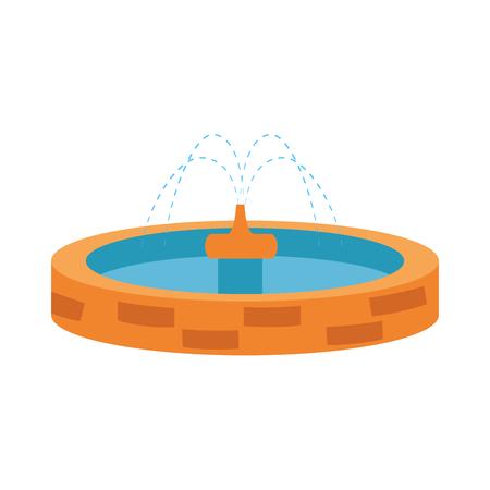 Parco lavello acqua icona illustrazione vettoriale design