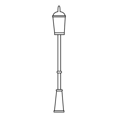 park lantern classic icon vector illustration design
