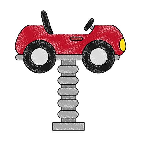little cart toy with spring vector illustration design Foto de archivo - 102264489