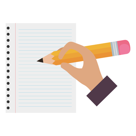 hand writing with pencil graphite vector illustration design