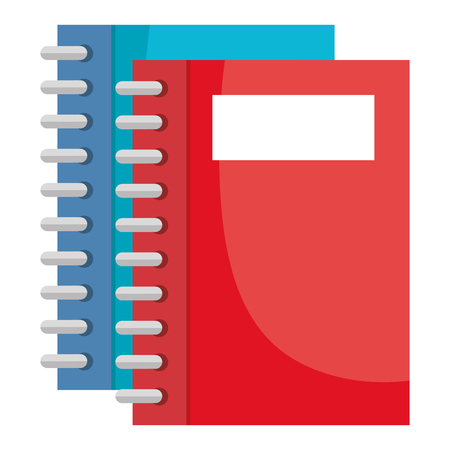 notebooks school isolated icon vector illustration design