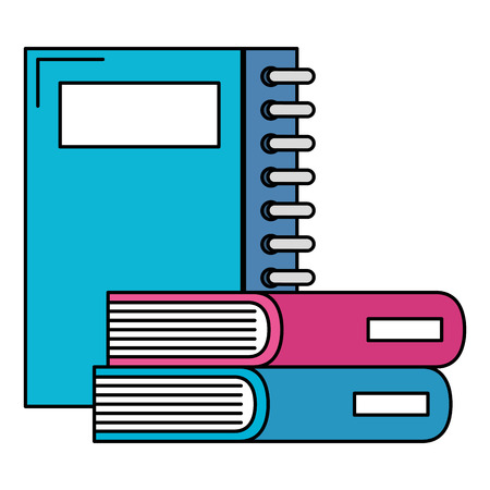 notebooks school and books vector illustration design