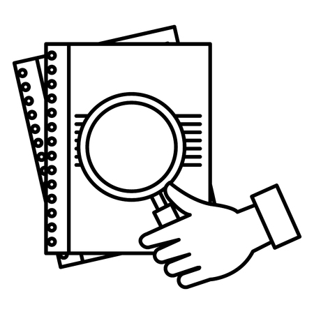 hand with magnifying glass vector illustration design 일러스트