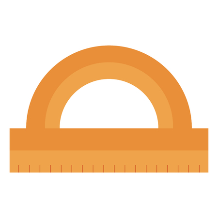 protractor rule isolated icon vector illustration design Çizim