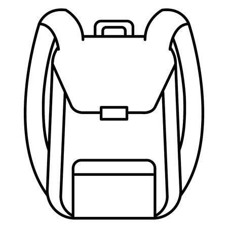 school bag supply icon vector illustration design