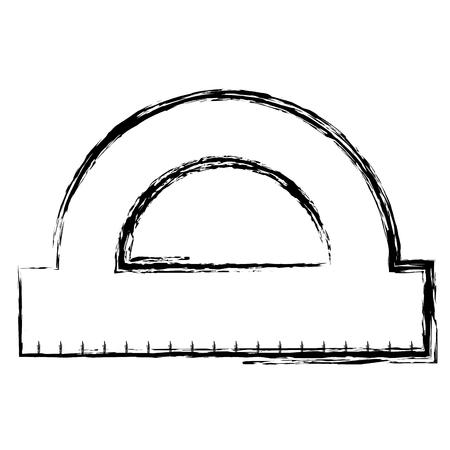 protractor rule isolated icon vector illustration design Illustration