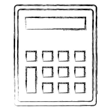 calculator math device icon vector illustration design