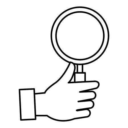 hand with magnifying glass vector illustration design Ilustração