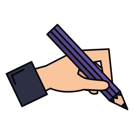 Escritura a mano con lápiz de grafito, diseño de ilustraciones vectoriales