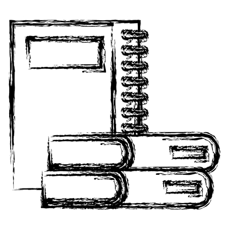notebooks school and books vector illustration design