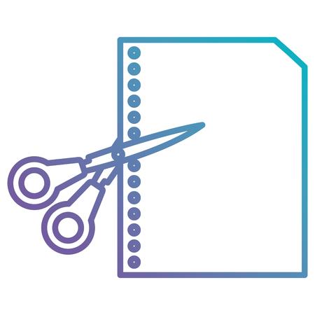 scissors school with paper sheet vector illustration design 写真素材 - 102264717