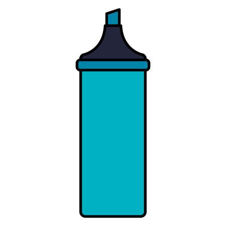 highlighter pen school supply vector illustration design