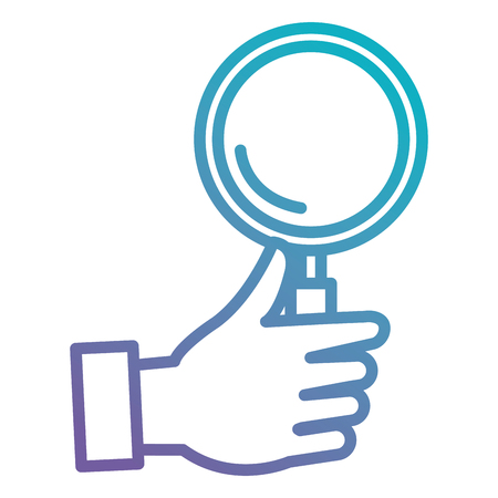 hand with magnifying glass vector illustration design Illustration