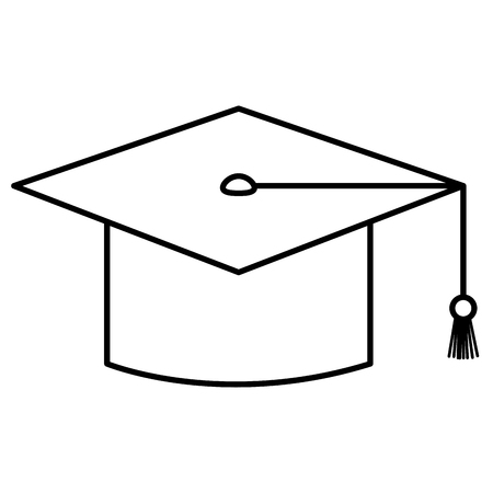 graduation hat isolated icon vector illustration design