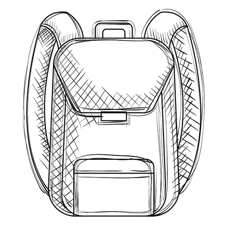 school bag supply icon vector illustration design