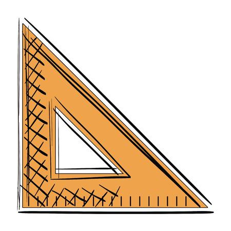 triangular geometric rule school vector illustration design