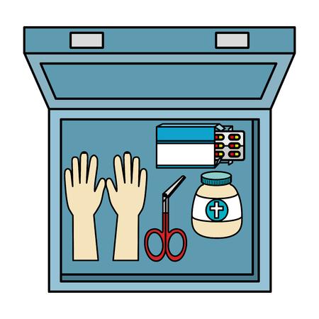 medical kit with equipment vector illustration design Zdjęcie Seryjne - 102364489