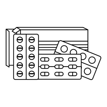 pills drugs isolated icon vector illustration design