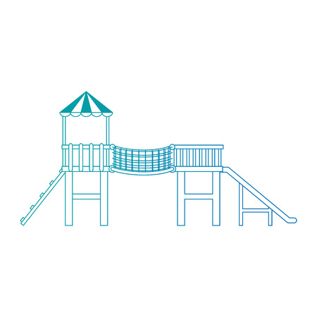 game with tower and slide vector illustration design