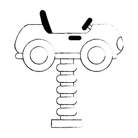 little cart toy with spring vector illustration design Foto de archivo - 102404121