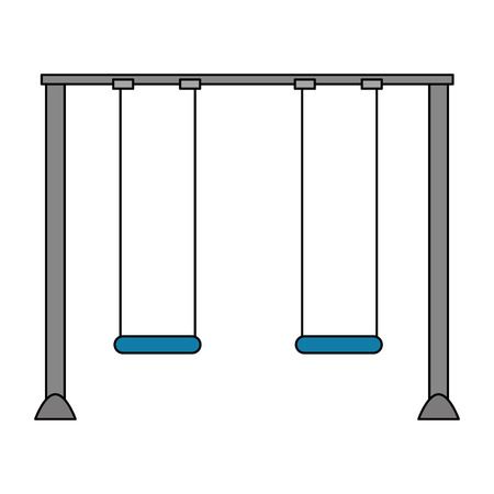 swing park playground hanging vector illustration design