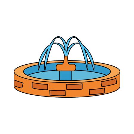 parc évier eau icône vector illustration design