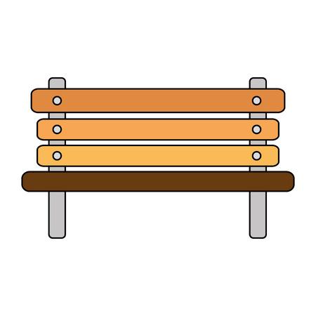park wooden chair icon vector illustration design Foto de archivo - 102404167