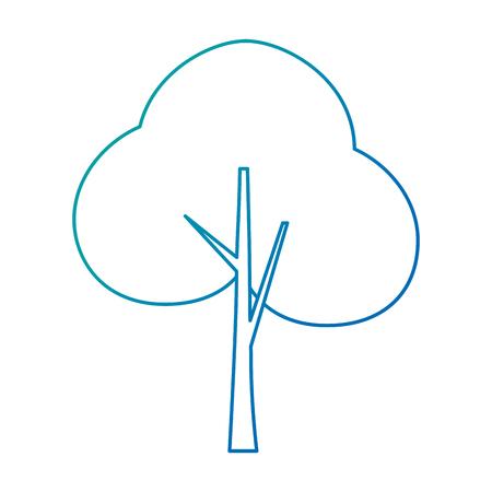 tree plant forest icon vector illustration design Stockfoto - 102404176