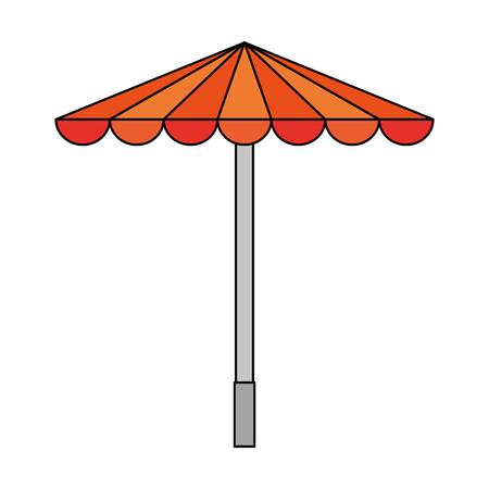 park umbrella open icon vector illustration design