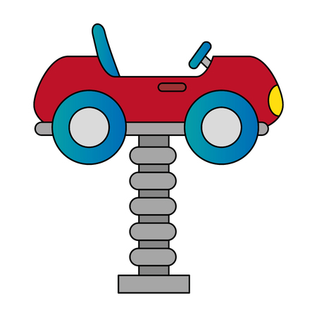 little cart toy with spring vector illustration design Çizim