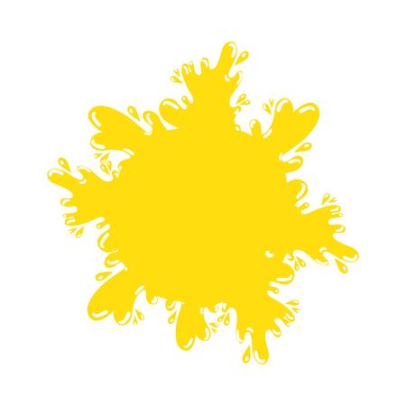 paint splash color icon vector illustration design