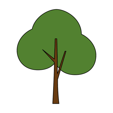tree plant forest icon vector illustration design Illustration