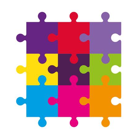 puzzle game pieces icon vector illustration design