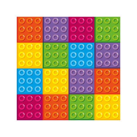 bricks plastic pieces toy icon vector illustration design Stock Illustratie