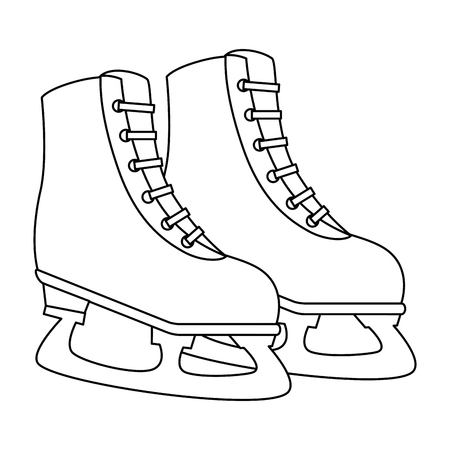 ice skates isolated icon vector illustration design