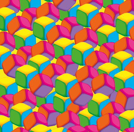 colors cubes blocks toy vector illustration design Illustration