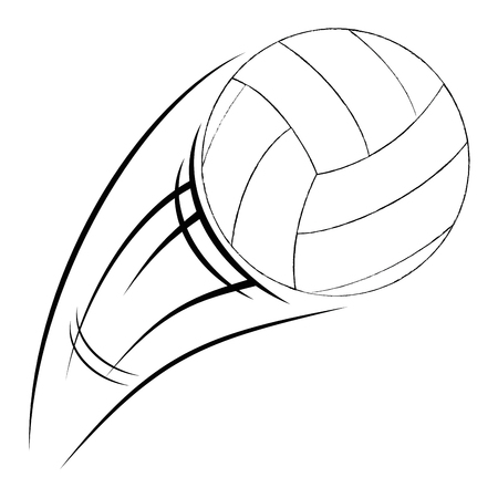 volleyball balloon isolated icon vector illustration design Stock Illustratie