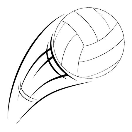 volleyball balloon isolated icon vector illustration design Ilustrace