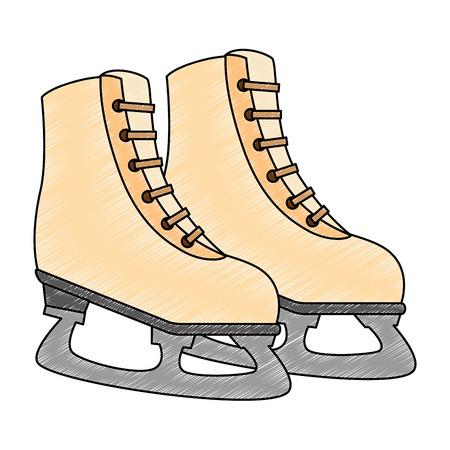 ice skates isolated icon vector illustration design Stok Fotoğraf - 102395722